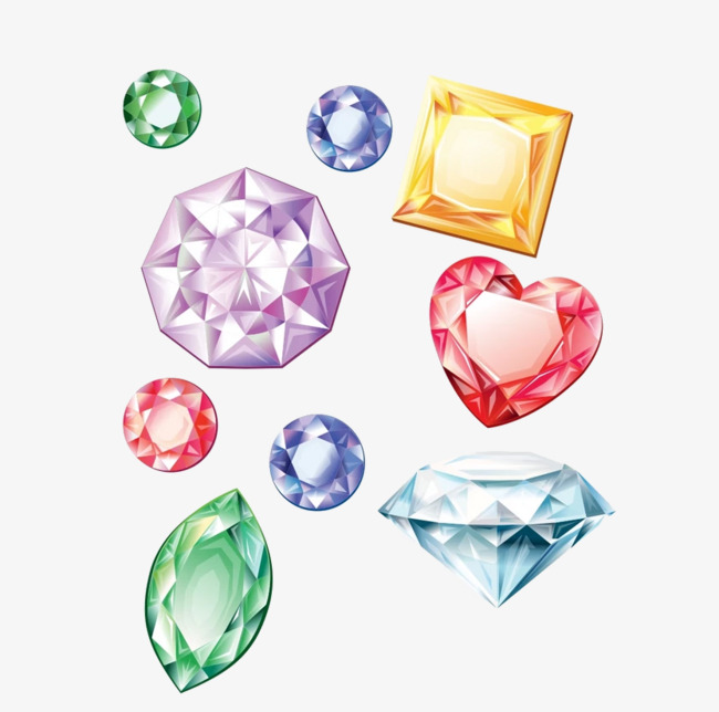 彩色的钻石png素材下载_高清图片png格式(编号:)-90