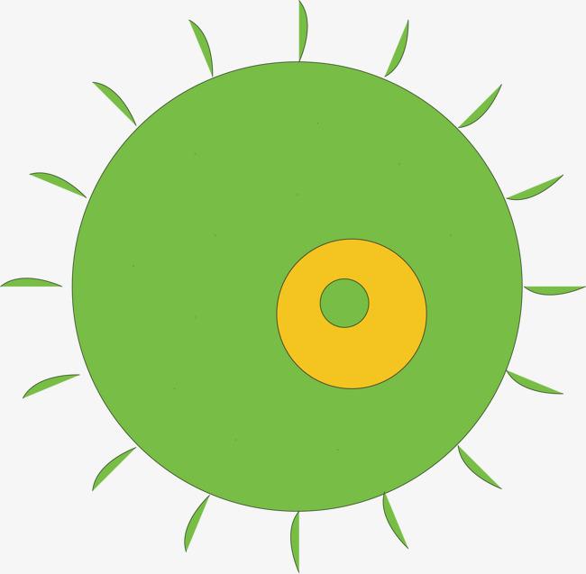 绿色圆形图案