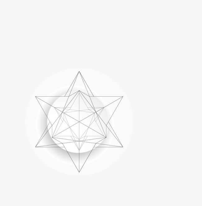 矢量不规则立体线条边框png