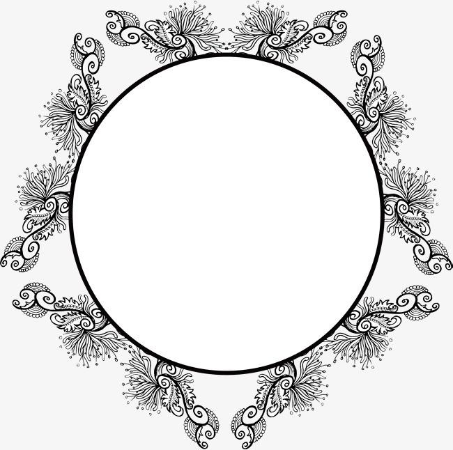 手绘花朵标题框png素材下载_高清图片png格式(编号:)