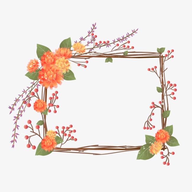 小清新田园花框