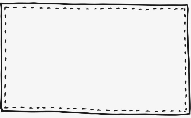 虚线实线手绘边框