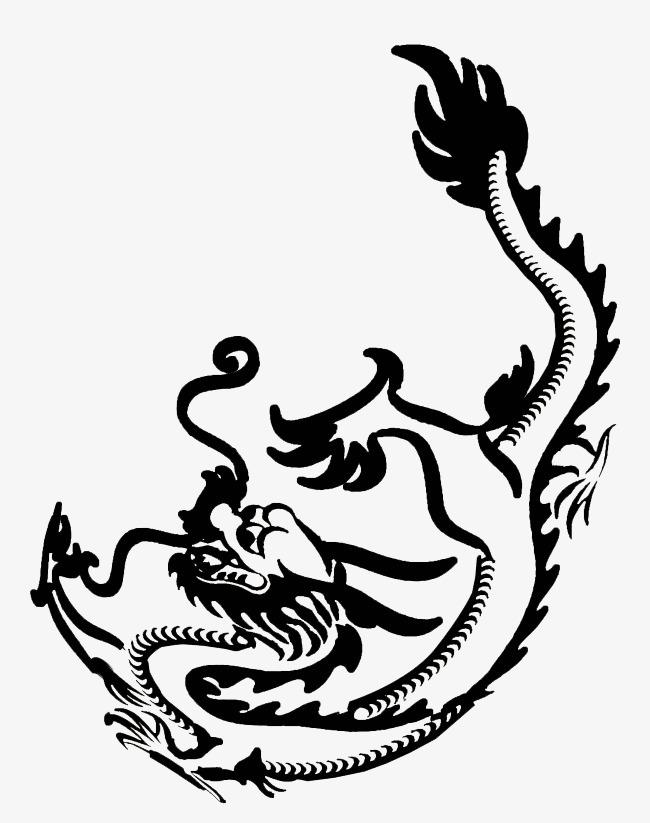 墨龙中国精神国风png素材-90设计