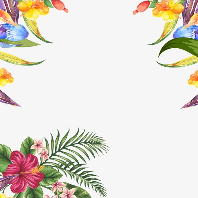 手绘花环_花环边框png素材-90设计