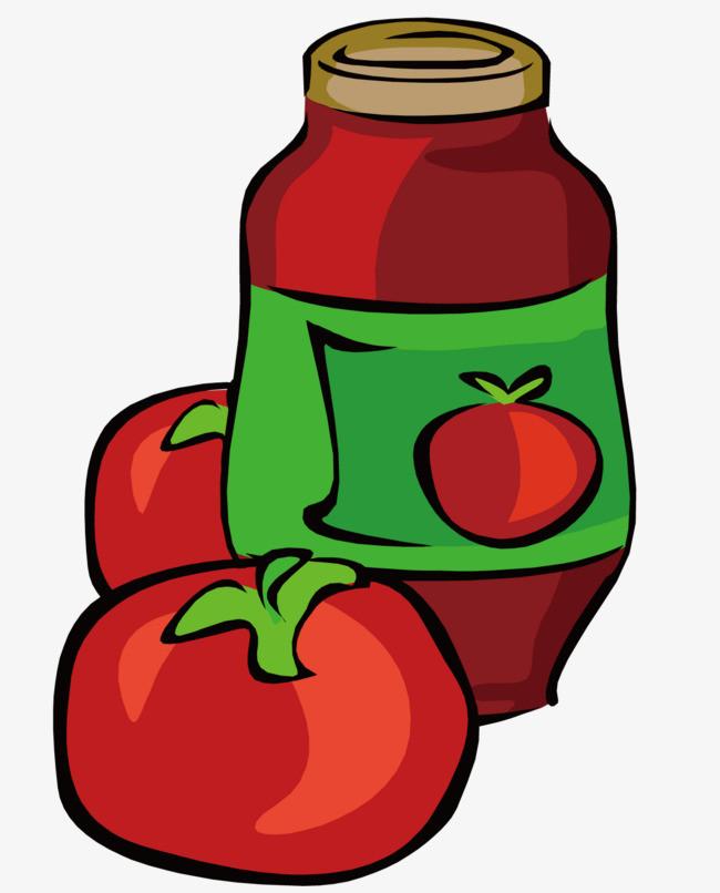 红色番茄酱图片