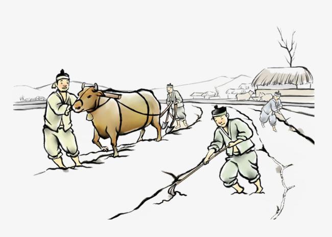 中国风农耕图图片