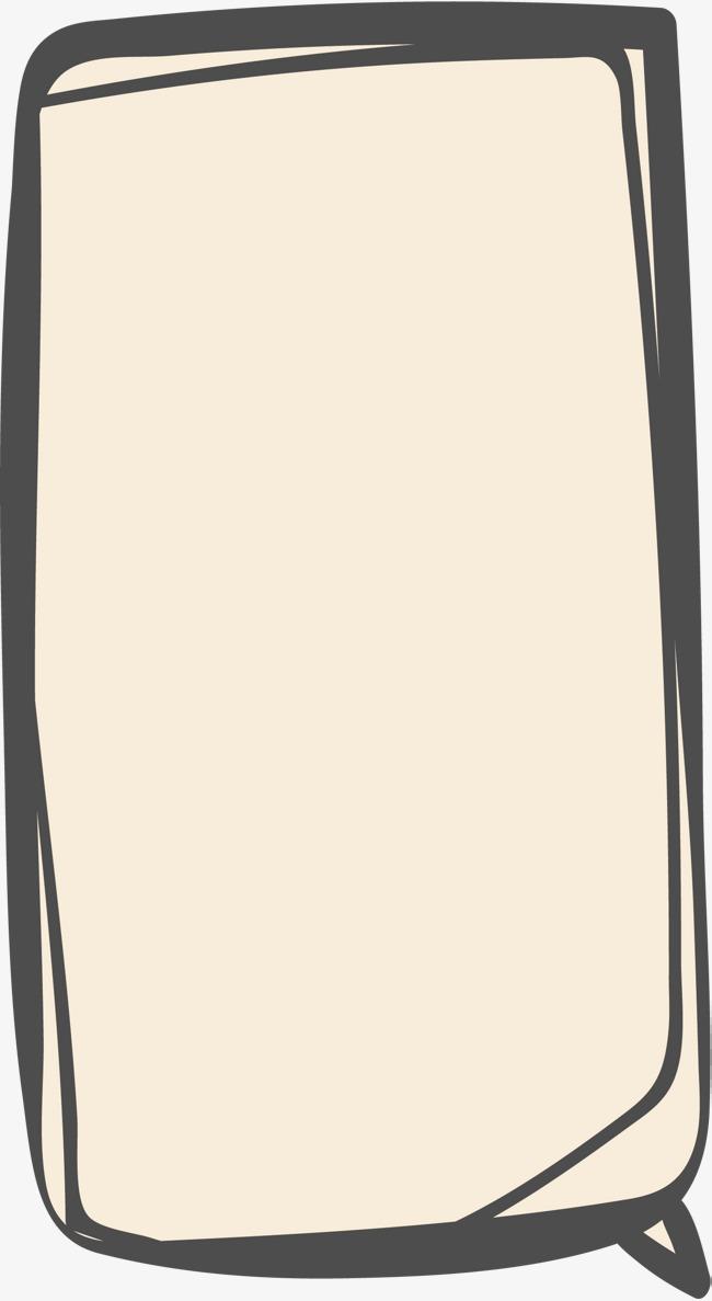 手绘线条长方形边框