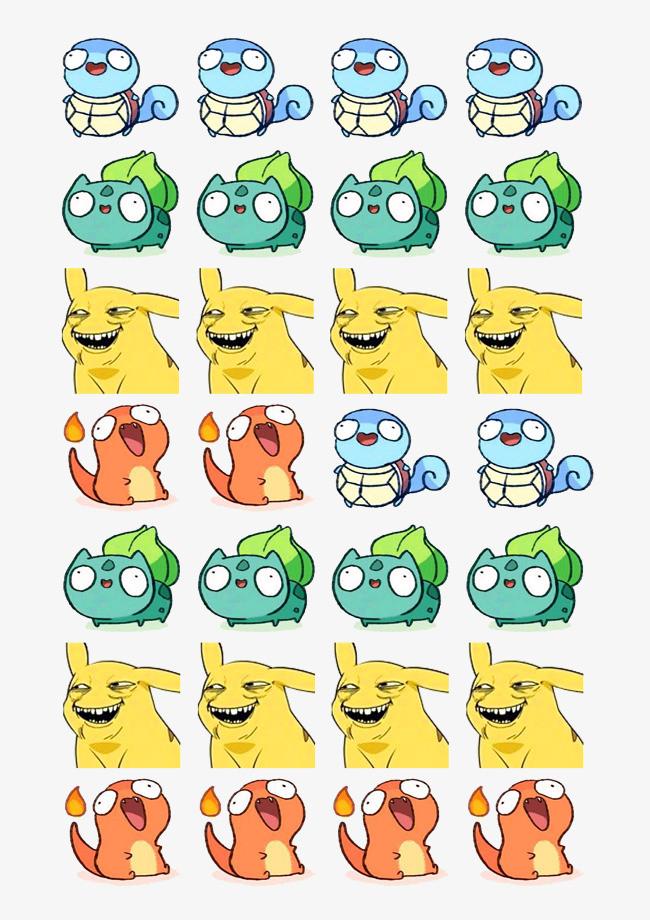 图片 > 【png】 可爱动物表情  分类:手绘动漫 类目:其他 格式:png 体