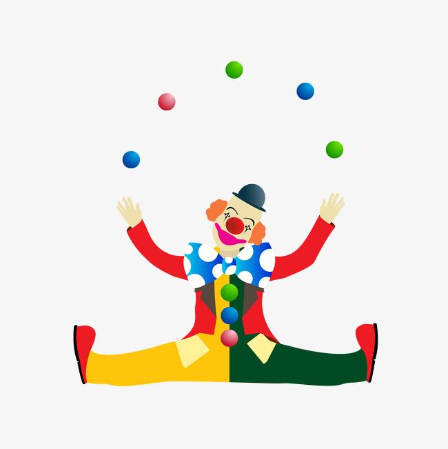 玩球的小丑