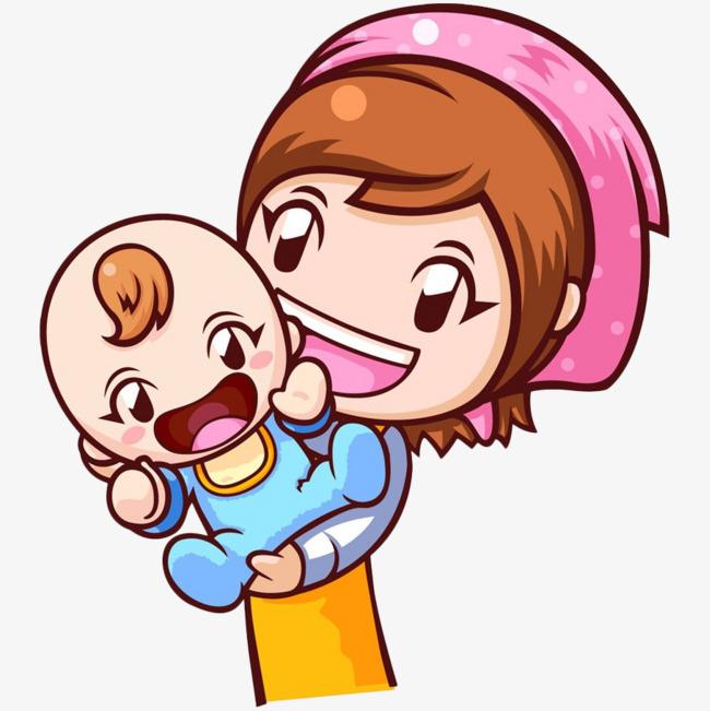 妈妈卡通_卡通妈妈抱宝宝