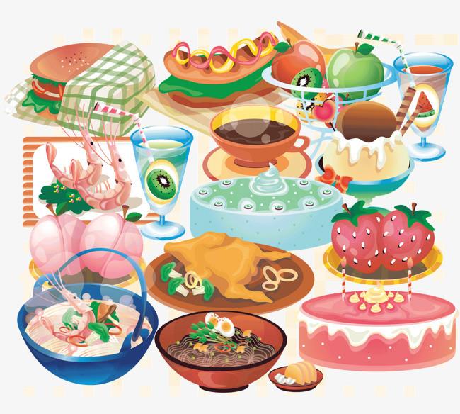 图片 > 【png】 一堆食物  分类:手绘动漫 类目:其他 格式:png 体积图片