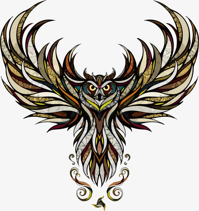 猫头鹰印花矢量图素材图片免费下载 高清装饰图案psd 千库网 图片编号2833454