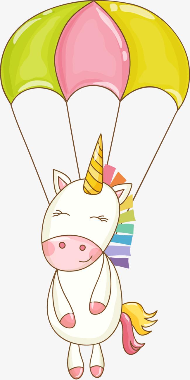 手绘动物和热气球