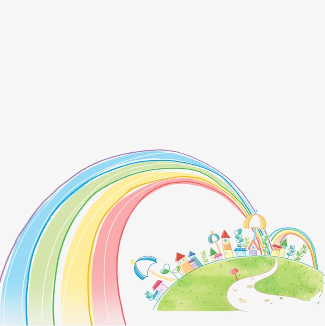 图片 装饰元素 > 【png】 手绘彩虹