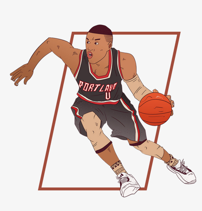 打篮球的男生