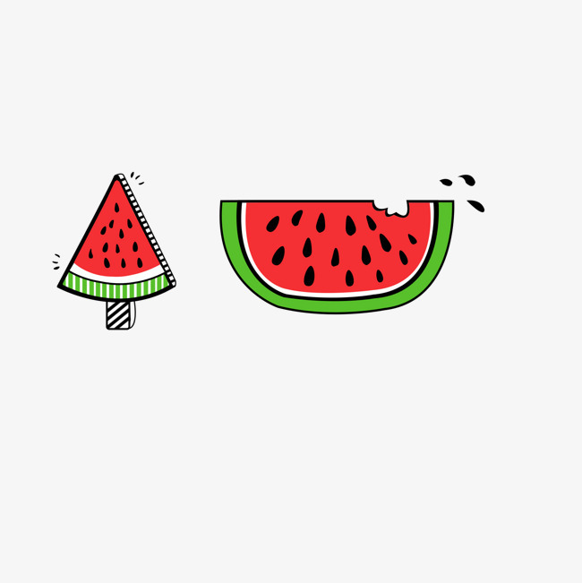卡通手绘西瓜水果