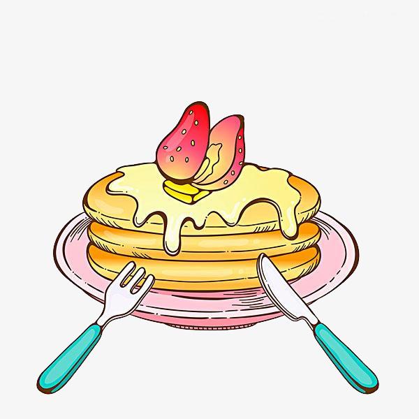 手绘的蛋糕图片