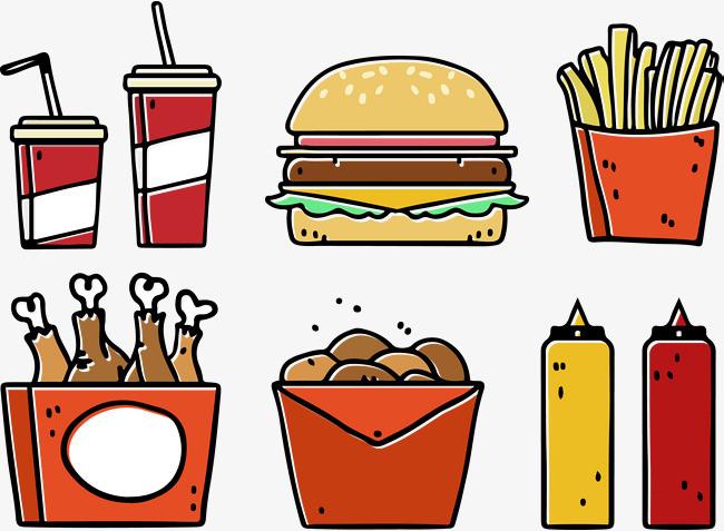 图片 > 【png】 汉堡炸鸡可乐薯条套餐  分类:手绘动漫 类目:其他