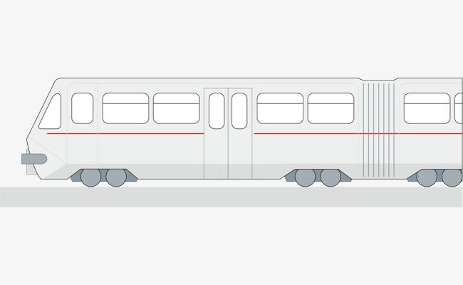 手绘 车 公交车 客车