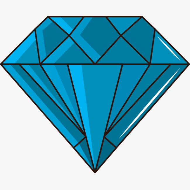 钻石矢量_蓝色钻石png素材-90设计
