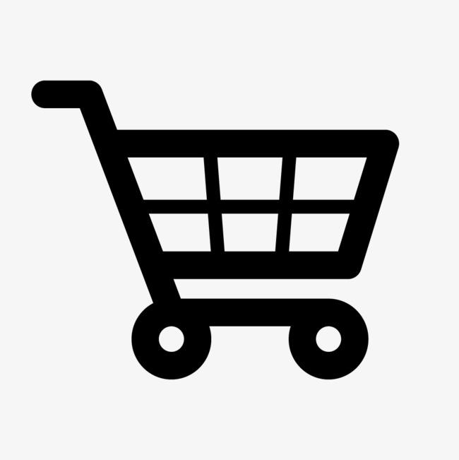 黑色购物车图标免费下载png素材-90设计