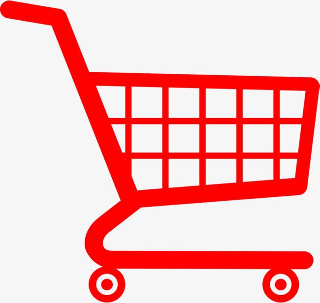 红色购物车图标免抠下载