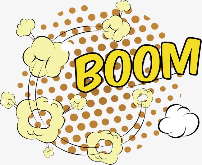 矢量手绘创意炸弹漫画