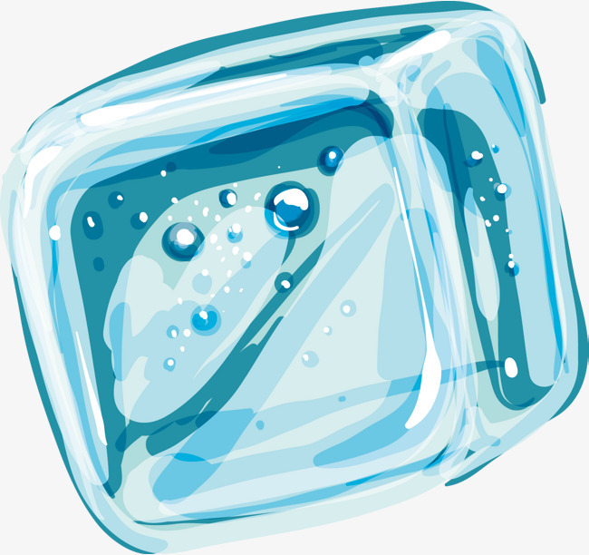 手绘冰块矢量图