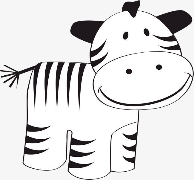 矢量可爱小牛漫画