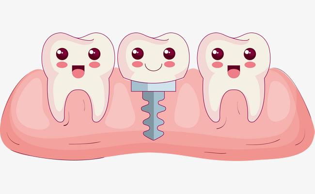 矢量手绘牙齿漫画