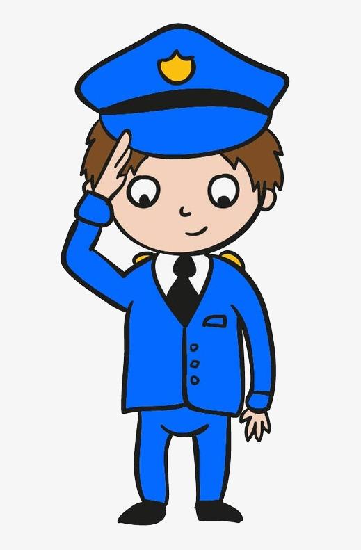 手绘警察png素材下载_高清图片png格式(编号:18654164