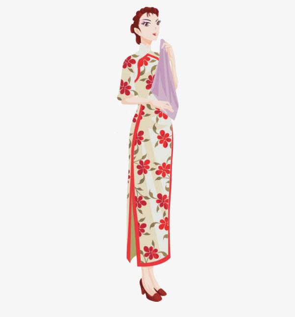 古装旗袍动漫手绘图片