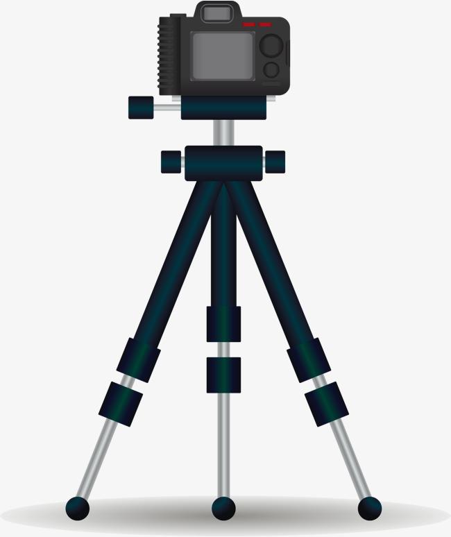 频拍摄视频录制单反数码相机三脚架录像拍照卡通矢量图相机照相机-