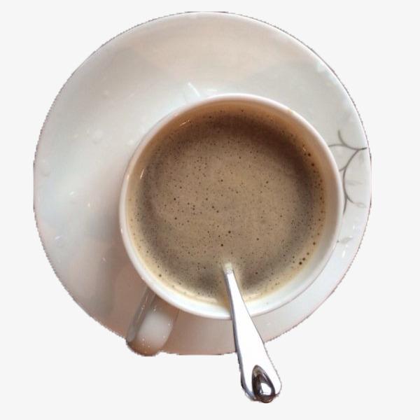 猫屎咖啡俯视照片