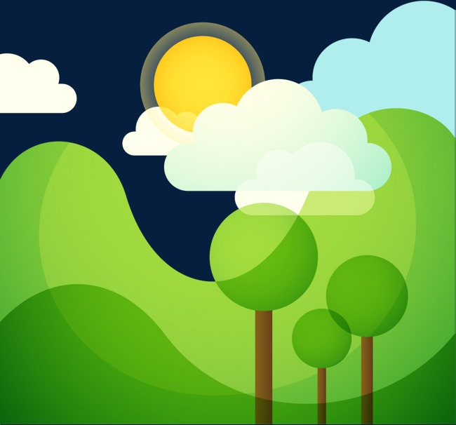 绿色大山边框图片