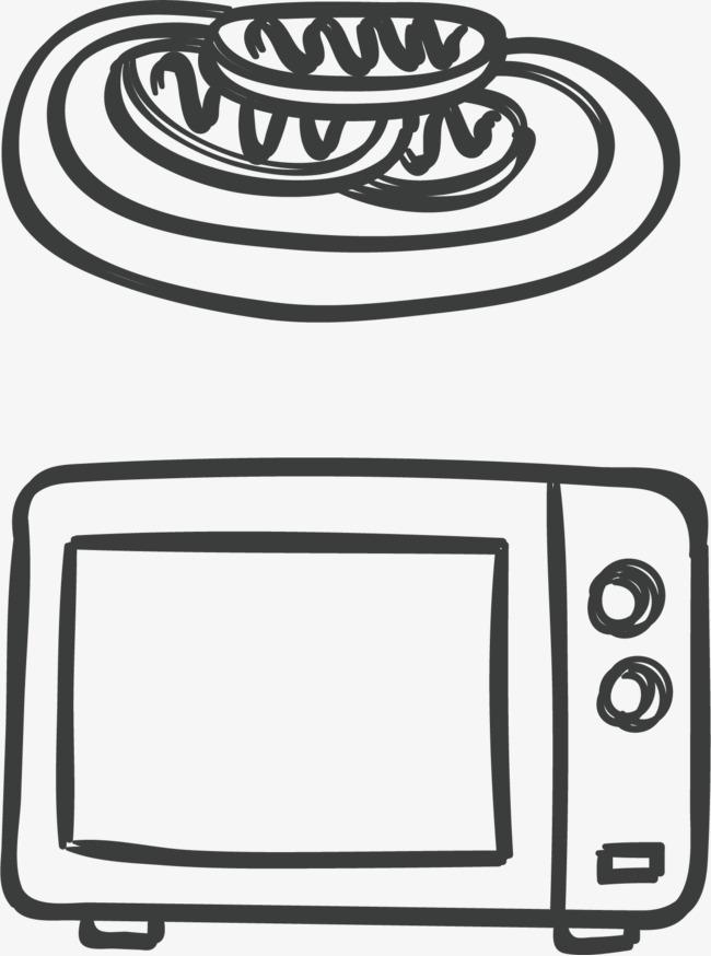 面包手绘图案 简笔画 西餐店 面包png免费下载 手机端:微波炉简笔画