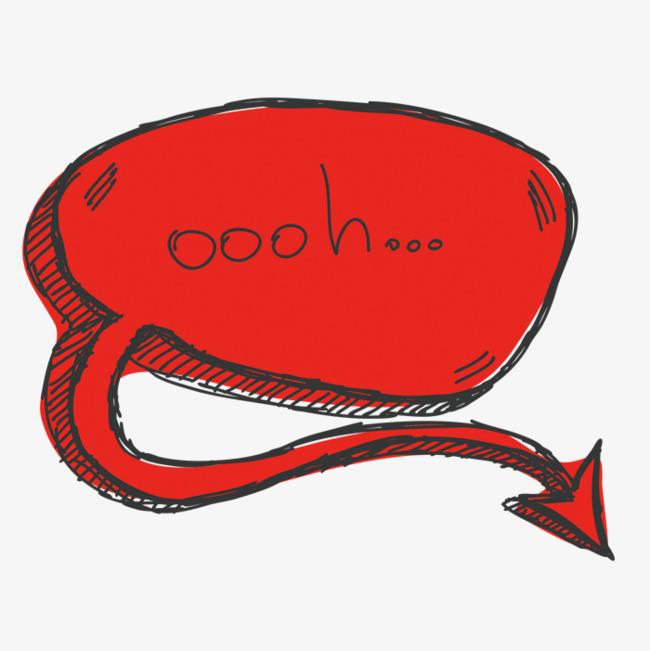 红色对话框png素材-90设计