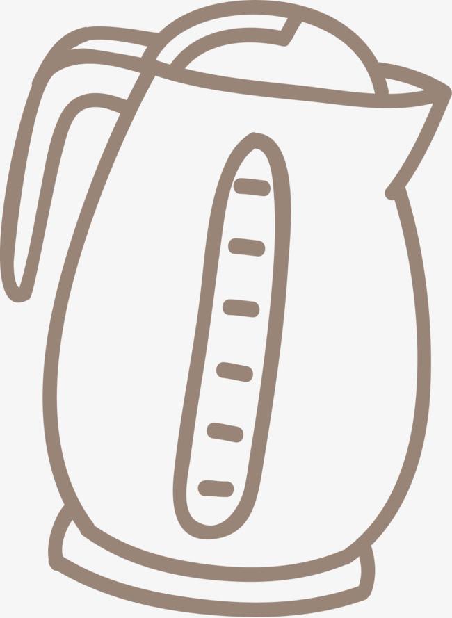 手绘电水壶
