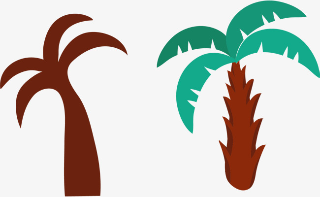 手绘槟榔树