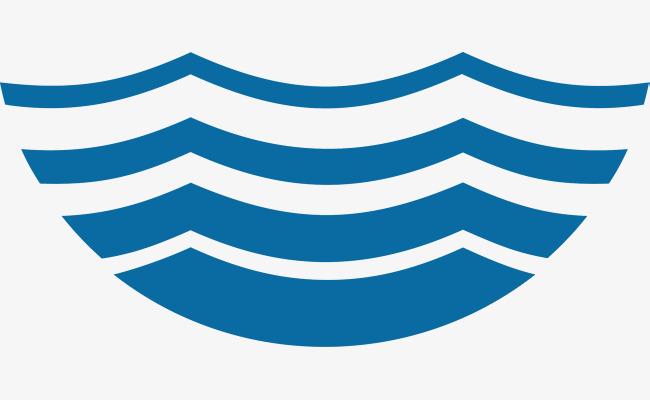 图片 > 【png】 简洁蓝色卡通湖水波纹logo  分类:手绘动漫 类目:其他