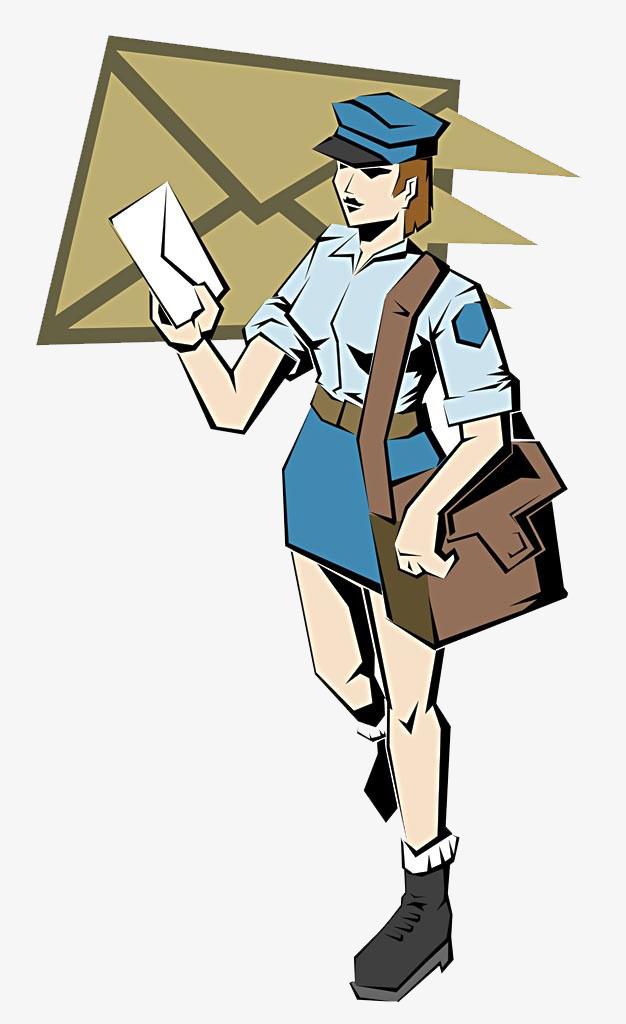 挎包的邮递员图片