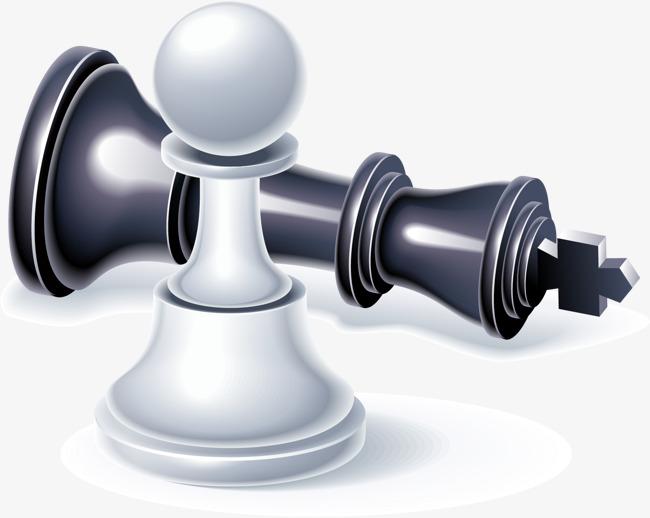 手绘黑白国际象棋