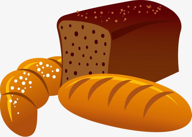 卡通面包矢量图图片