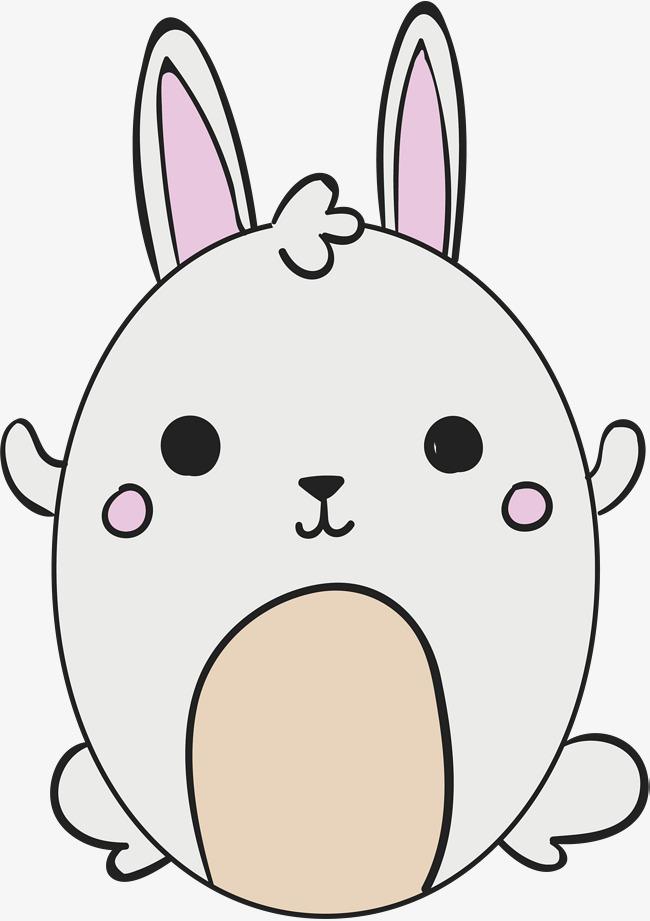 可爱手绘小兔子