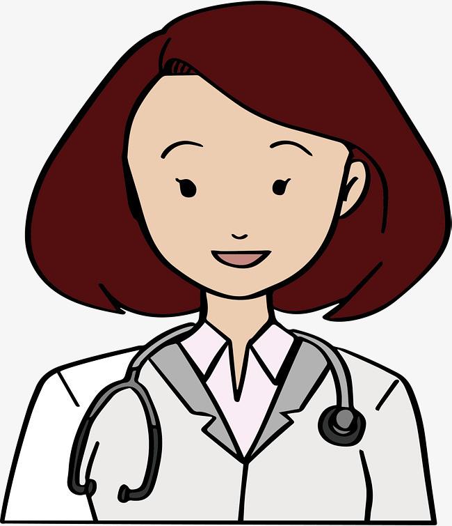 短发手绘女医生
