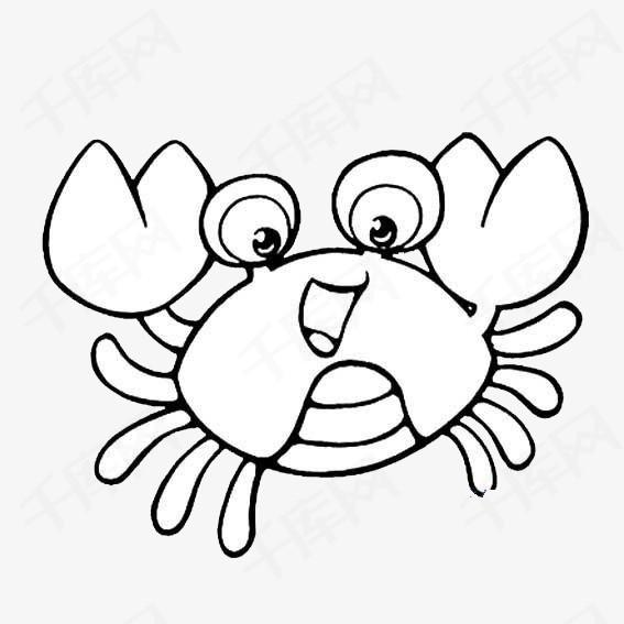 简笔画蟹脚素材图片免费下载 高清png 千库网 图片编号8541792