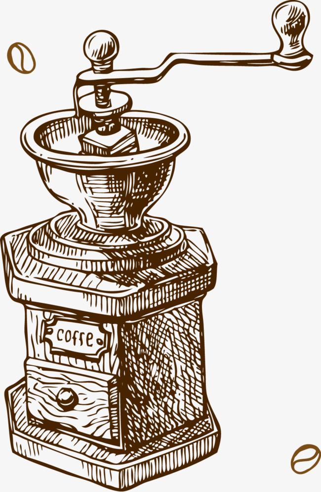 90设计提供高清png手绘动漫素材免费下载,本次磨咖啡机作品为设计师