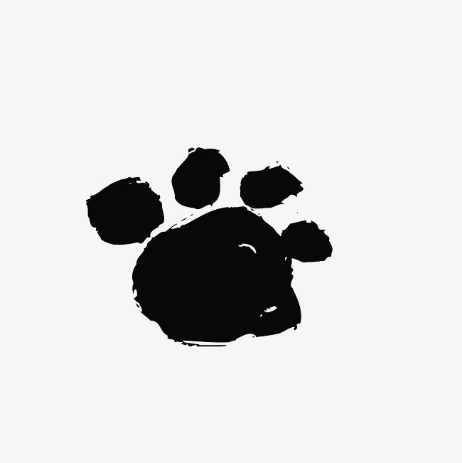 小猫爪怎么画_小猫爪印卡通图片