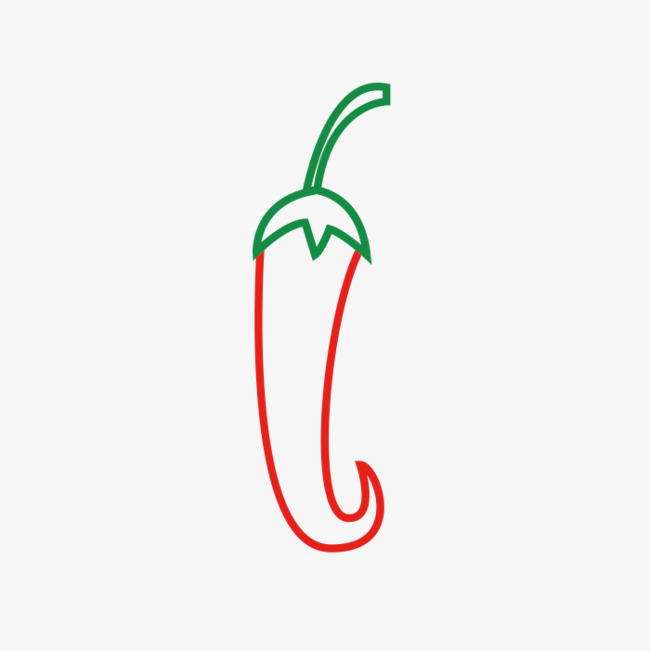 手绘的辣椒