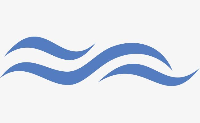 蓝色波浪线